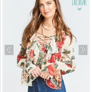 Show Me Your Mumu Elton Top in Lady Rose